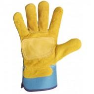 Gant type docker jaune avec renfort.